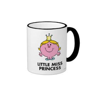 Little Miss Princess | Crown Background Ringer Mug