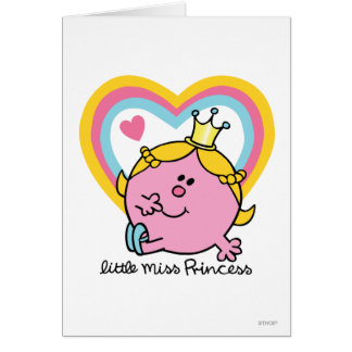 Little Miss Princess | Hearts Greeting Card