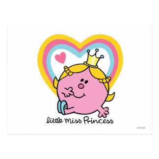 Little Miss Princess | Hearts Postcard