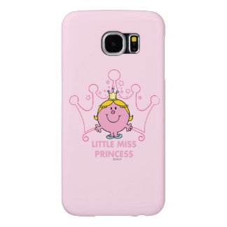 Little Miss Princess | Pink Five Pointed Crown Samsung Galaxy S6 Cases