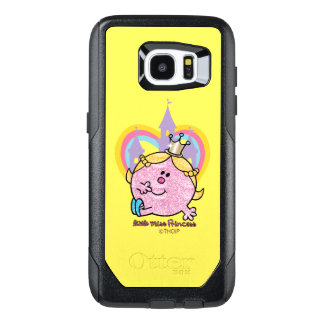 Little Miss Princess Posing With Castle & Heart OtterBox Samsung Galaxy S7 Edge Case