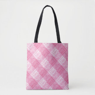 Little Miss Princess | Pretty In Pink Pattern Tote Bag