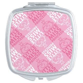 Little Miss Princess | Pretty In Pink Pattern Travel Mirror