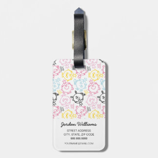 Little Miss Princess | Pretty Pastels Pattern Bag Tag