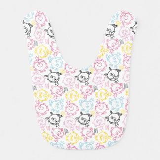 Little Miss Princess | Pretty Pastels Pattern Bib