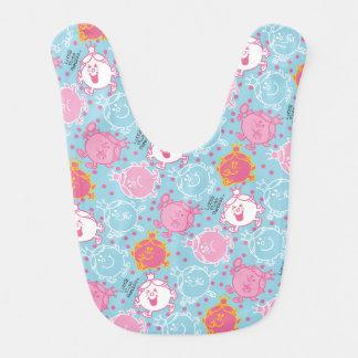 Little Miss Princess | Pretty Pink & Blue Pattern Bib