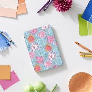Little Miss Princess   Pretty Pink & Blue Pattern iPad Mini Cover
