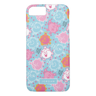 Little Miss Princess | Pretty Pink & Blue Pattern iPhone 8/7 Case