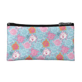 Little Miss Princess | Pretty Pink & Blue Pattern Makeup Bags