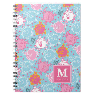 Little Miss Princess | Pretty Pink & Blue Pattern Notebook