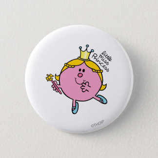 Little Miss Princess | Royal Scepter 6 Cm Round Badge