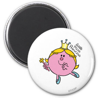 Little Miss Princess | Royal Scepter 6 Cm Round Magnet