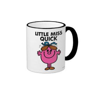 Little Miss Quick | Black Lettering Ringer Mug