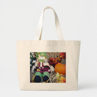 Little Miss Scarecrow Large Tote Bag
