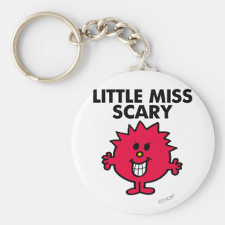 Little Miss Scary | Black Lettering Basic Round Button Key Ring