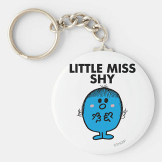 Little Miss Shy | Black Lettering Basic Round Button Key Ring