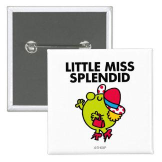Little Miss Splendid | Black Lettering 15 Cm Square Badge
