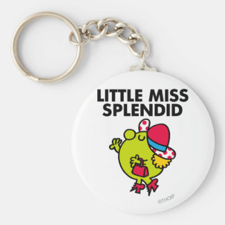 Little Miss Splendid | Black Lettering Basic Round Button Key Ring