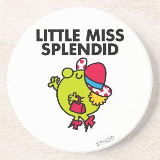 Little Miss Splendid | Black Lettering Sandstone Coaster