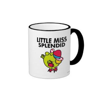 Little Miss Splendid | Black Lettering Ringer Mug