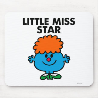 Little Miss Star | Black Lettering Mouse Pad