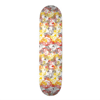 Little Miss Sunshine | All Smiles Pattern Skateboard Deck