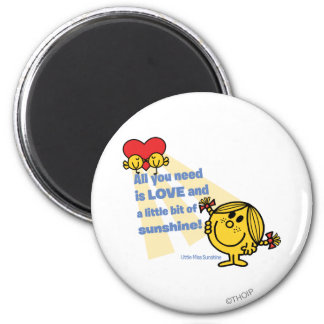 Little Miss Sunshine | All You Need Is… 6 Cm Round Magnet