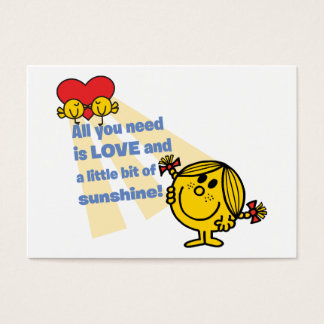 Little Miss Sunshine | All You Need is Love Business Card
