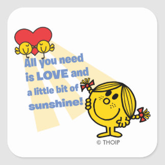 Little Miss Sunshine | All You Need is Love Square Sticker
