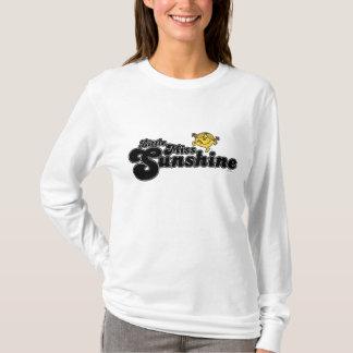 Little Miss Sunshine   Black Bubble Lettering T-Shirt