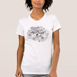 Little Miss Sunshine   Black & White Flowers T-Shirt