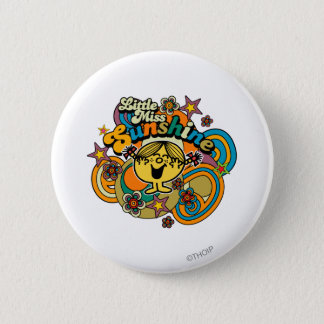 Little Miss Sunshine   Floral Delight 6 Cm Round Badge