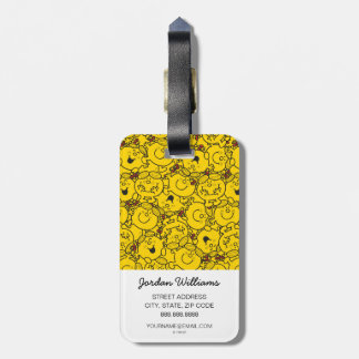 Little Miss Sunshine | Fun Yellow Smiles Pattern Bag Tag