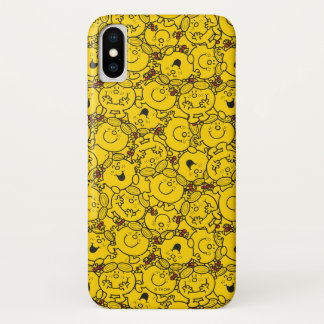 Little Miss Sunshine | Fun Yellow Smiles Pattern iPhone X Case