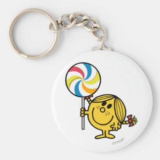 Little Miss Sunshine | Giant Lollipop Basic Round Button Key Ring