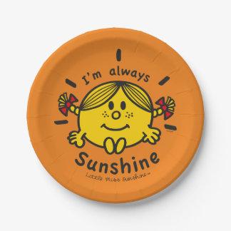 Little Miss Sunshine | I'm Always Sunshine Paper Plate