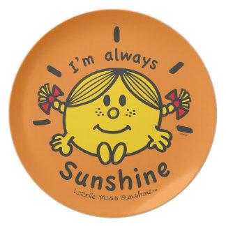 Little Miss Sunshine   I'm Always Sunshine Plate