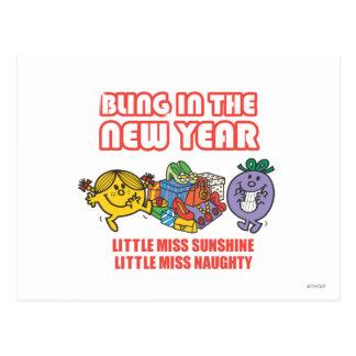 Little Miss Sunshine & Little Miss Naughty Postcard