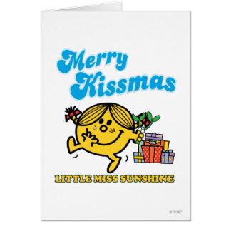 Little Miss Sunshine | Merry Kissmas Greeting Card