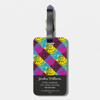 Little Miss Sunshine | Neon Pattern Luggage Tag