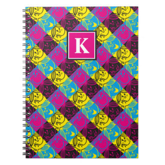 Little Miss Sunshine | Neon Pattern | Monogram Notebook