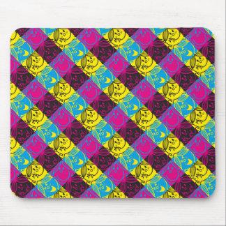 Little Miss Sunshine | Neon Pattern Mouse Pad