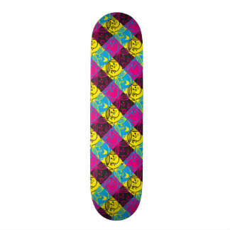 Little Miss Sunshine | Neon Pattern Skateboard Deck