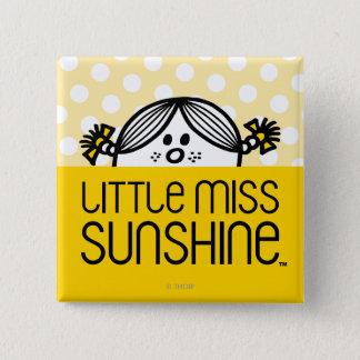 Little Miss Sunshine Peeking Over Name 15 Cm Square Badge