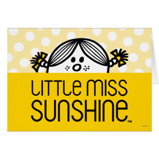 Little Miss Sunshine Peeking Over Name Note Card