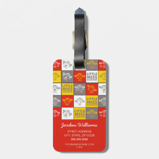 Little Miss Sunshine | Red & Yellow Pattern Bag Tag