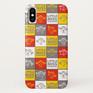 Little Miss Sunshine | Red & Yellow Pattern iPhone X Case