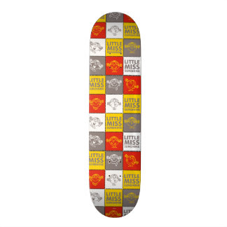 Little Miss Sunshine | Red & Yellow Pattern Skateboard Deck