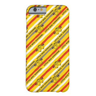 Little Miss Sunshine | Red, Yellow Stripes Pattern Barely There iPhone 6 Case