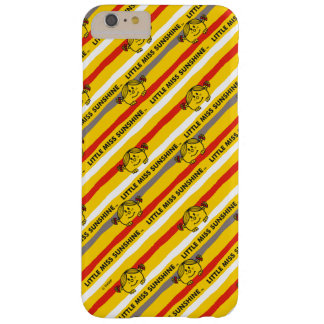 Little Miss Sunshine | Red, Yellow Stripes Pattern Barely There iPhone 6 Plus Case